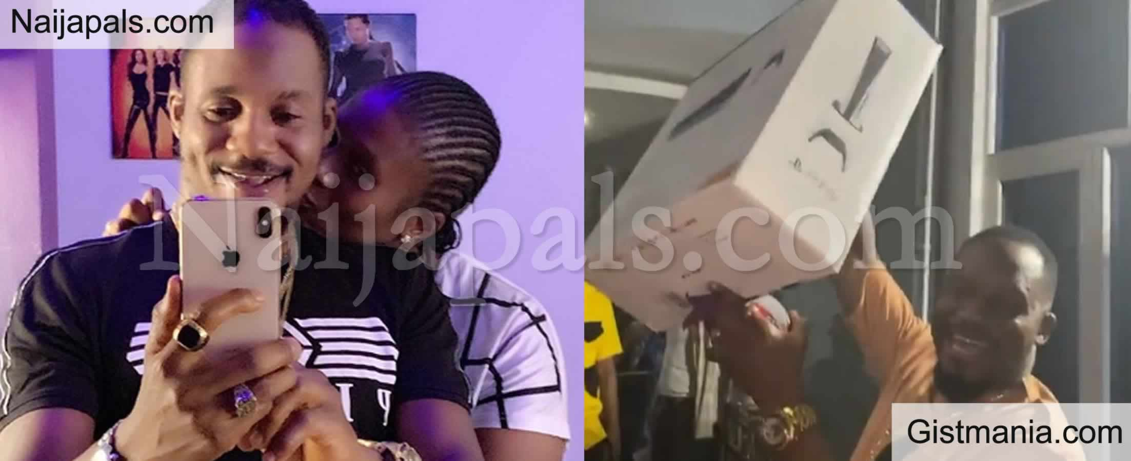 <img alt='.' class='lazyload' data-src='https://img.gistmania.com/emot/video.gif' /> <b>Actor Junior Pope Excited As Wife Surprises Him With N1M Cash, PS5 & Other Birthday Goodies</b> (VID)