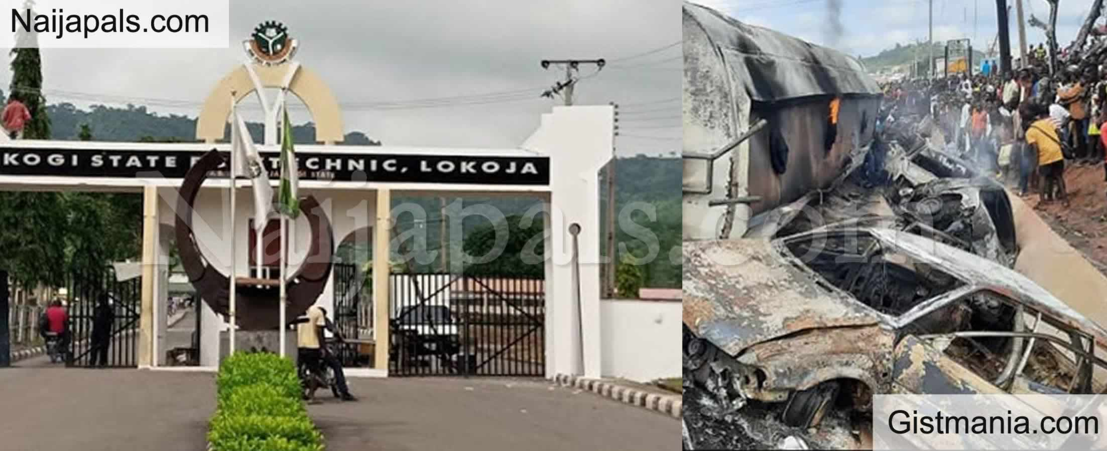 <img alt='.' class='lazyload' data-src='https://img.gistmania.com/emot/news.gif' /> TANKER EXPLOSION! <b>Kogi State Polytechnic Declares 3-Days Free Lecture To Mourn Victims</b>