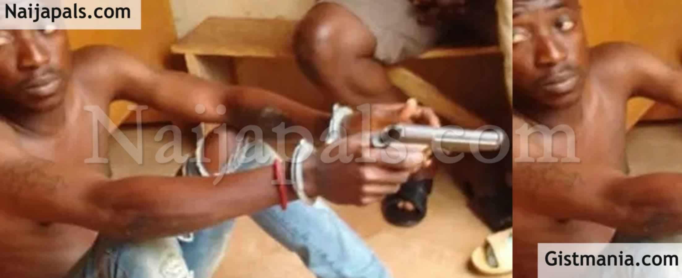 <img alt='.' class='lazyload' data-src='https://img.gistmania.com/emot/news.gif' /> <b>Police Arrest Notorious Armed Robber In Kaduna; Recovers A Baretta Pistol</b>