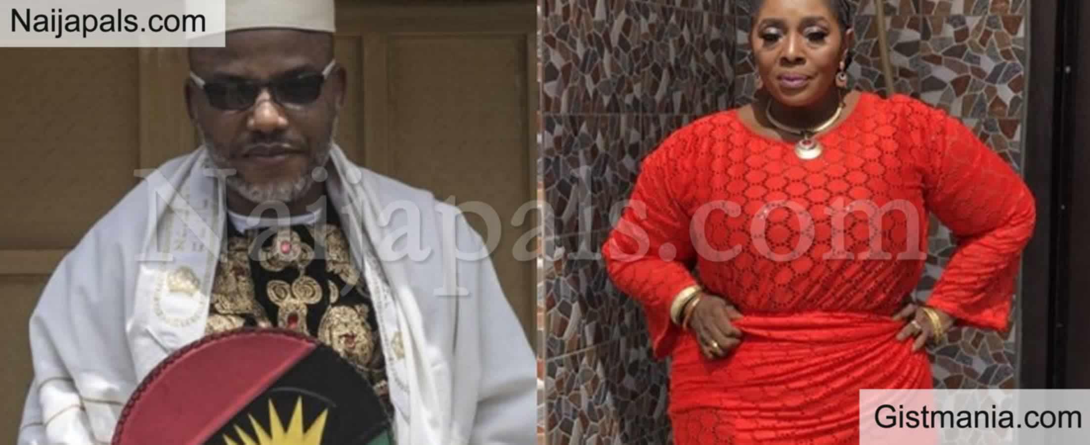<img alt='.' class='lazyload' data-src='https://img.gistmania.com/emot/comment.gif' /> <b>Free Nnamdi Kanu Now to Avoid Had I Known</b> - Actress Rita Edochie Warns Buhari