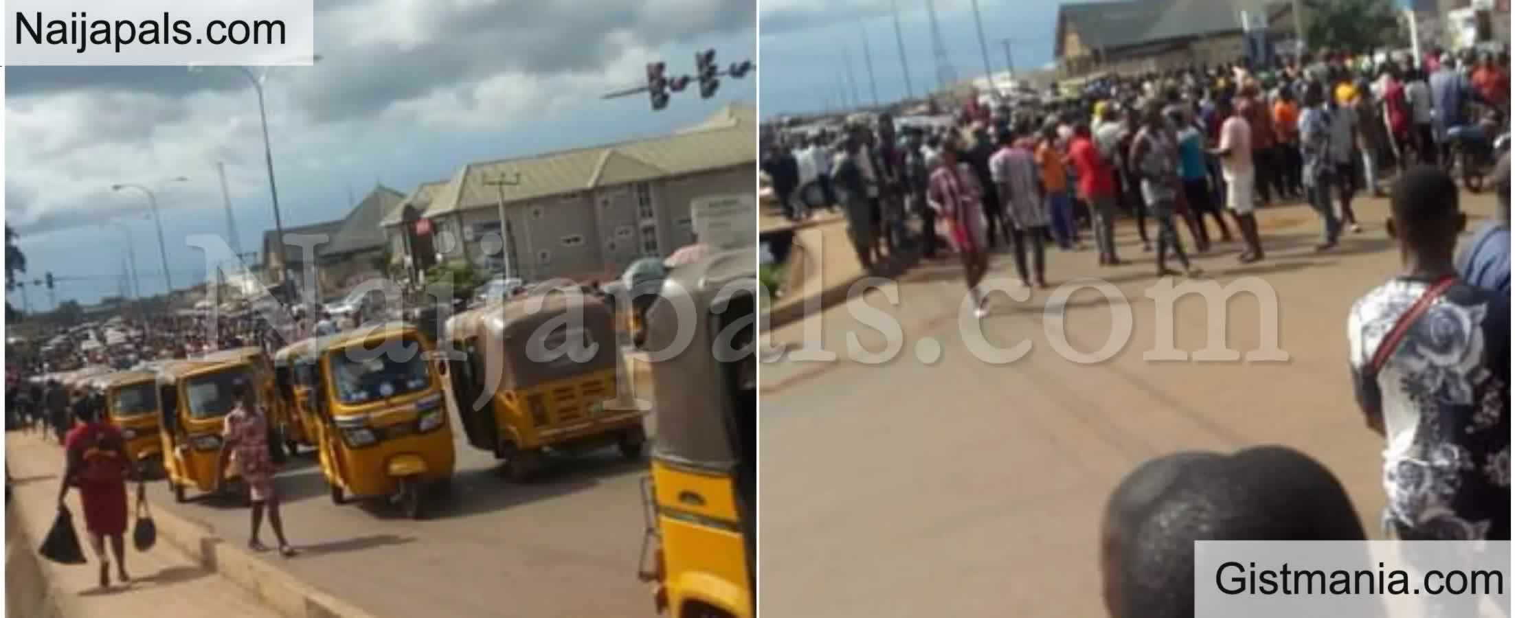 <img alt='.' class='lazyload' data-src='https://img.gistmania.com/emot/shocked.gif' /> <b>Commotion as Tax Force Officials Beat a Keke Man to Death Over 50 Naira Ticket in Enugu</b>