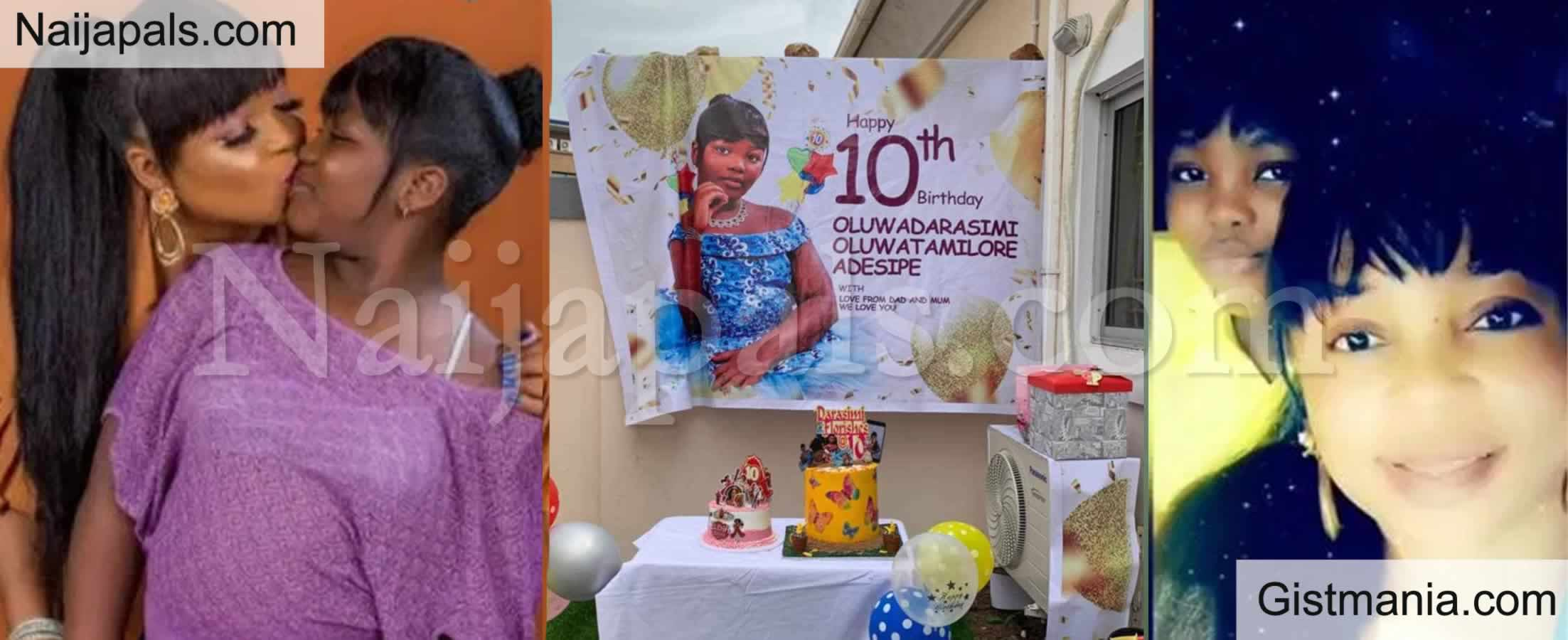 <img alt='.' class='lazyload' data-src='https://img.gistmania.com/emot/celeb.gif' /> <b>Actress, Kemi Afolabi Celebrates Daughter Oluwadarasimi on Her 10th Birthday</b> (Photos)