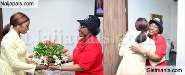 Ex-BBNaija Star, Khafi Meets Ekiti State 1st Lady As Part Of Her Home Coming Chronicles