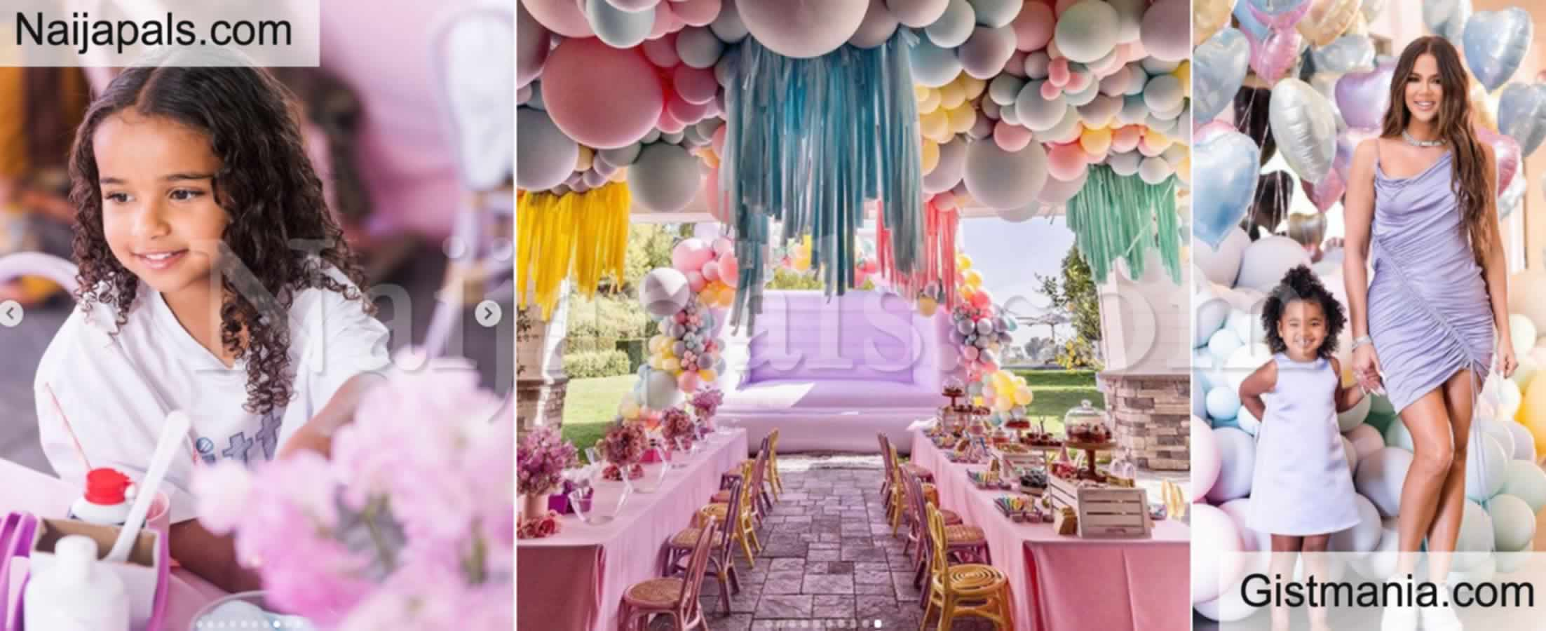 <img alt='.' class='lazyload' data-src='https://img.gistmania.com/emot/star.gif' /> Money Speaking! <b>Photos From Khloe Kardashian's Daughter True's Lavish Birthday</b>