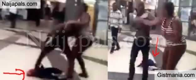Lady Drops Her Baby To Fight Her Baby Daddy In A Mall In South