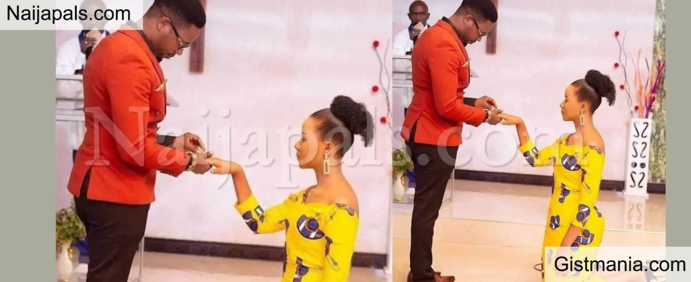<img alt='.' class='lazyload' data-src='https://img.gistmania.com/emot/comment.gif' /> <b>Reactions Trail Viral Photo of Nigerian Lady Kneeling As Her Fiancé Proposed to Her</b>