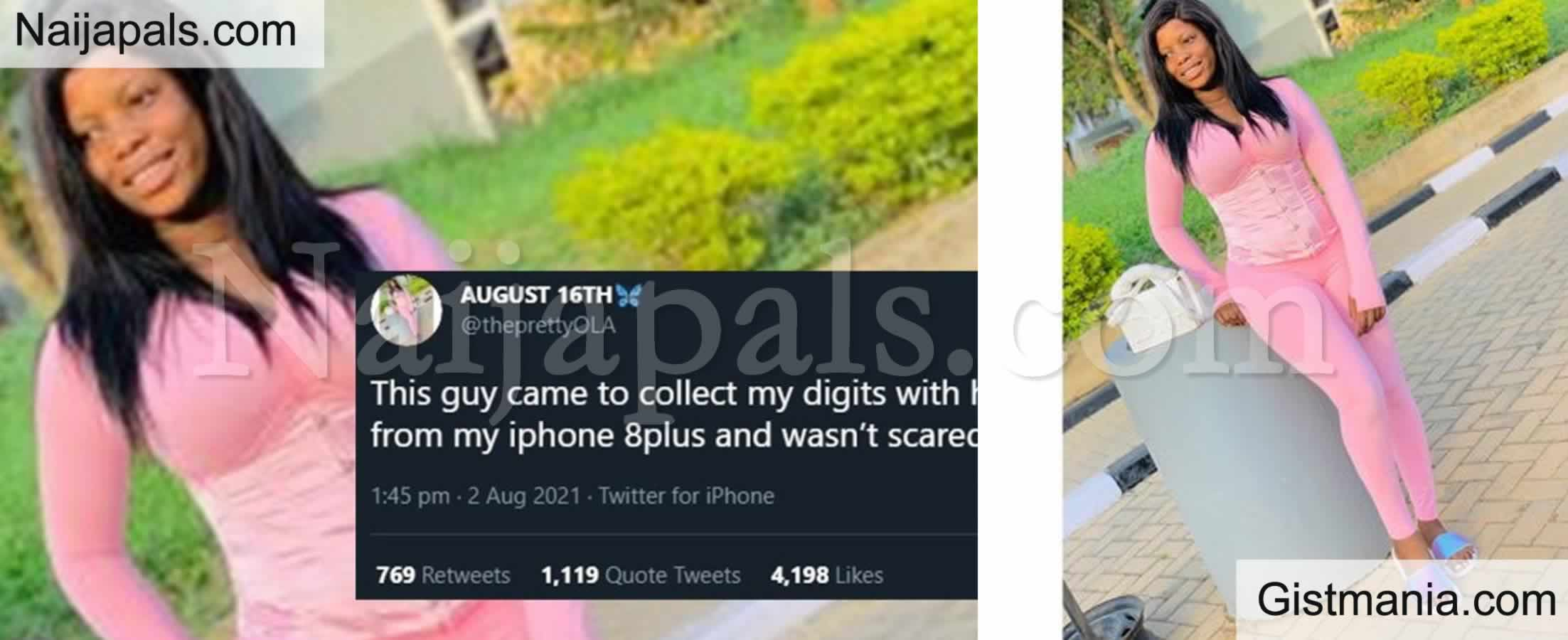 <img alt='.' class='lazyload' data-src='https://img.gistmania.com/emot/comment.gif' /> <b>Lady Shames A Guy Who Asks For Her Number With Infinix Hot 4 While She's Using An iPhone 8plus</b>