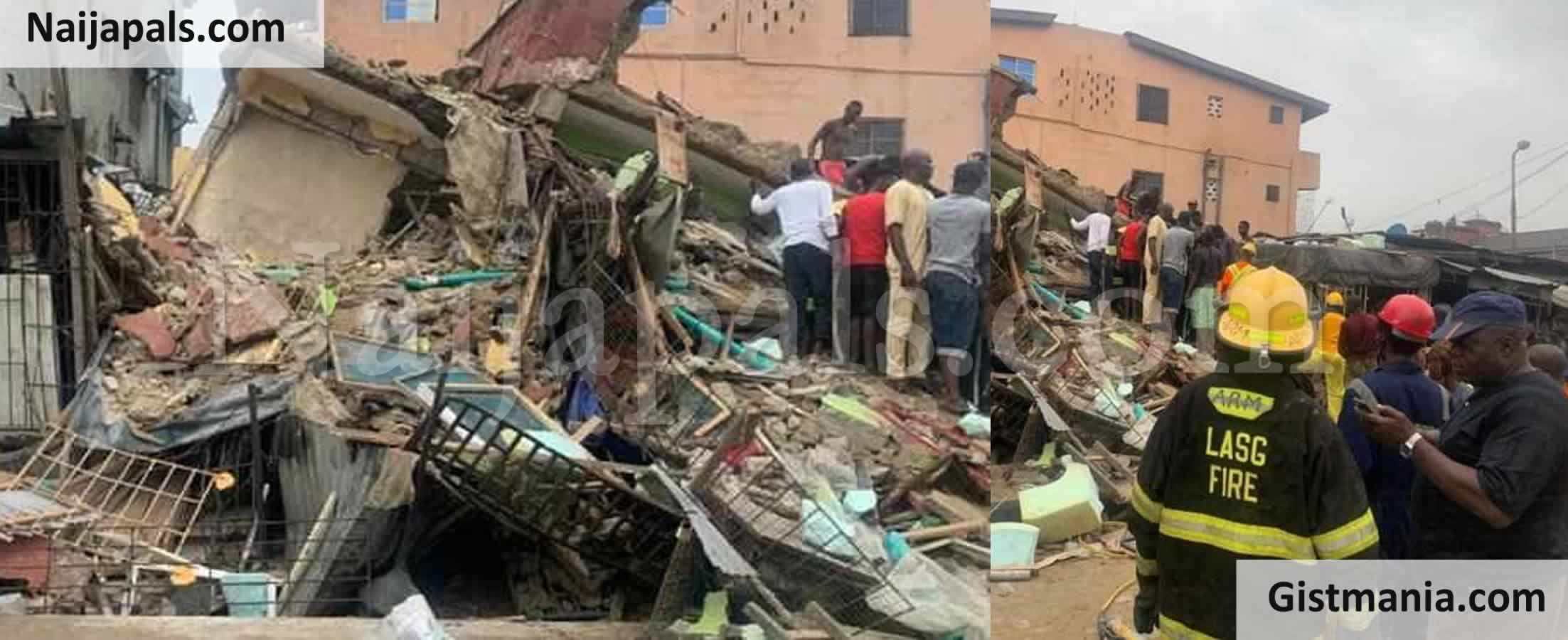 <img alt='.' class='lazyload' data-src='https://img.gistmania.com/emot/news.gif' /> BREAKING! <b>Six Rescued, Others Feared Trapped As 3-Storey Building Collapses In Lagos</b> (Photos)