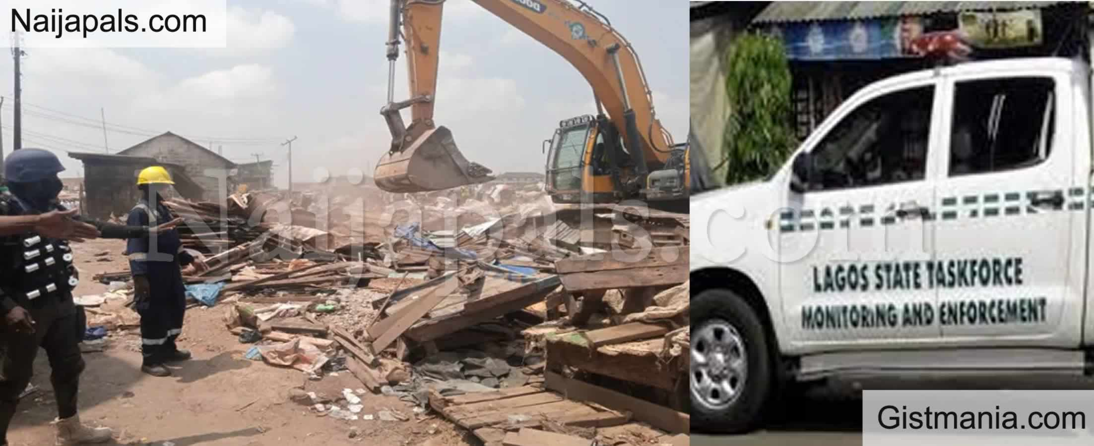 <img alt='.' class='lazyload' data-src='https://img.gistmania.com/emot/news.gif' /> <b>Lagos Govt Demolishes Illegal Structures Following Attack on COVID-19 Task Force in Agege</b>