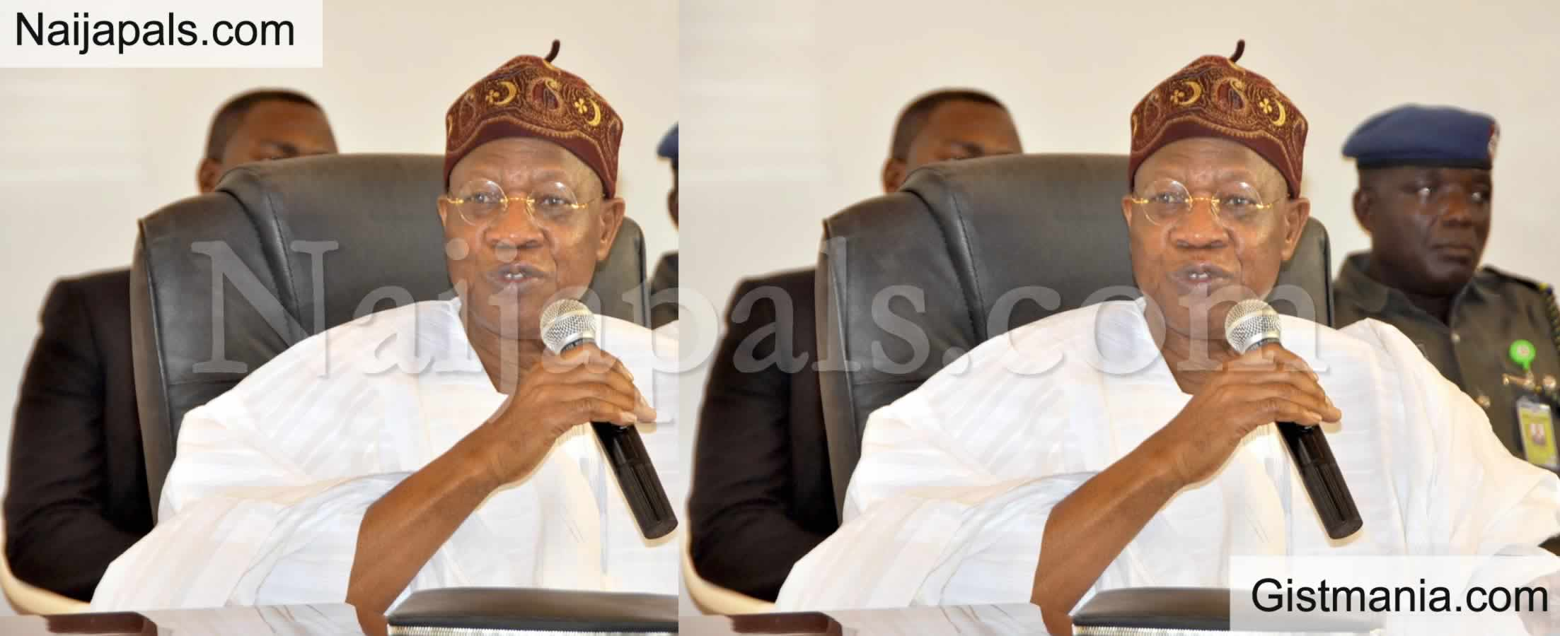 <img alt='.' class='lazyload' data-src='https://img.gistmania.com/emot/shocked.gif' /> <b>Lai Mohammed Denies Announcing N5M Hate Speech Fine Despite Video Evidence</b>