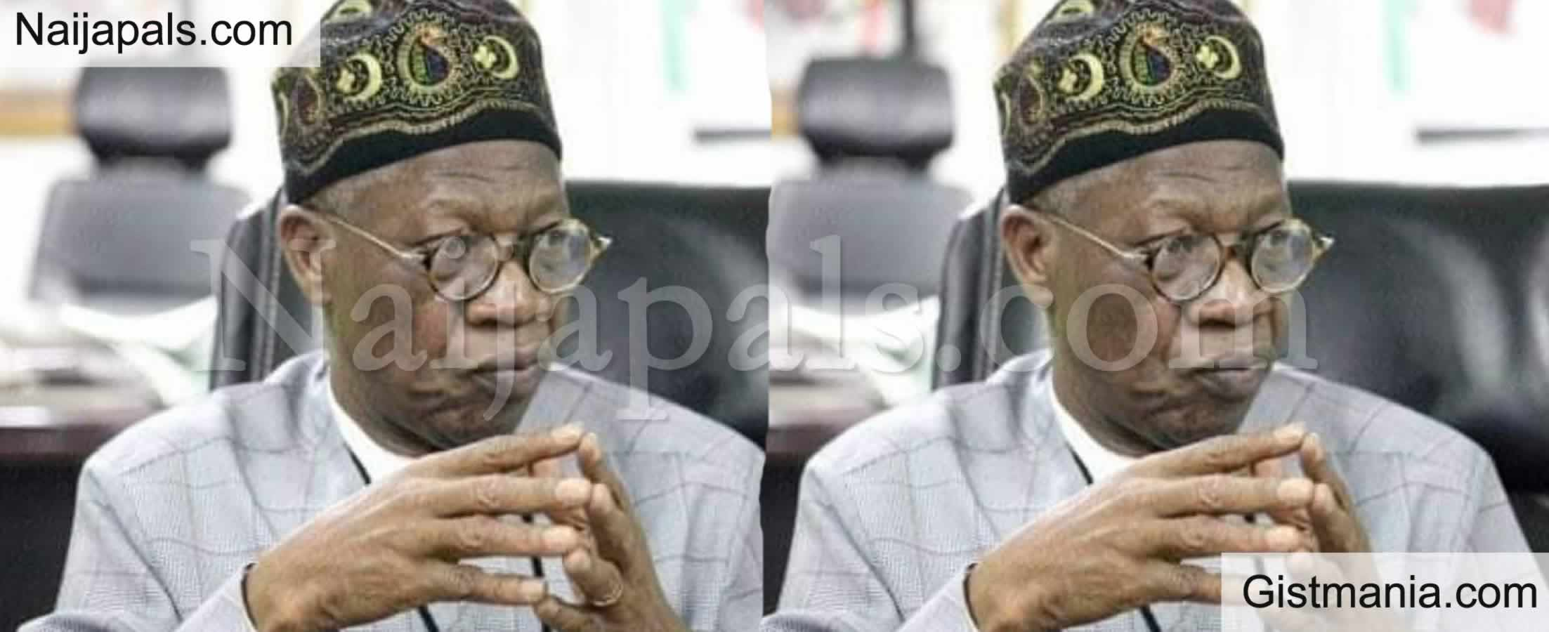 <img alt='.' class='lazyload' data-src='https://img.gistmania.com/emot/comment.gif' /> <b>Nigeria Don't Have Weapons To Defeat Boko Haram</b> - Lai Mohammed