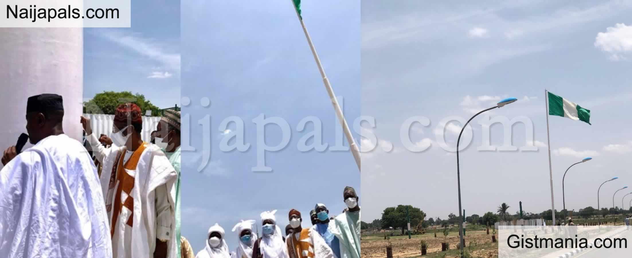 <img alt='.' class='lazyload' data-src='https://img.gistmania.com/emot/news.gif' /> <b>Lai Mohammed Inspects Tallest Nigerian Flag Pole Located In Jigawa</b>