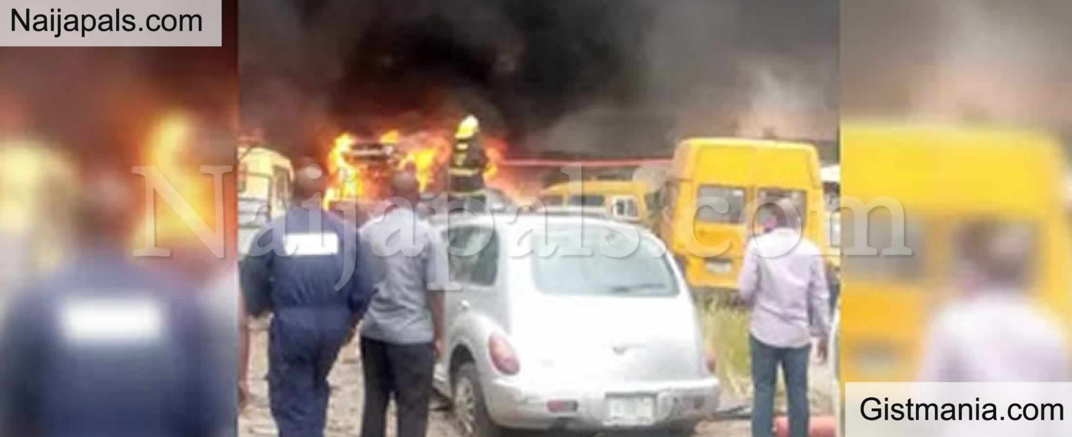<img alt='.' class='lazyload' data-src='https://img.gistmania.com/emot/fire.gif' /> <b>LASTMA Office Razed, 10 Cars, One Trailer Destroyed</b>