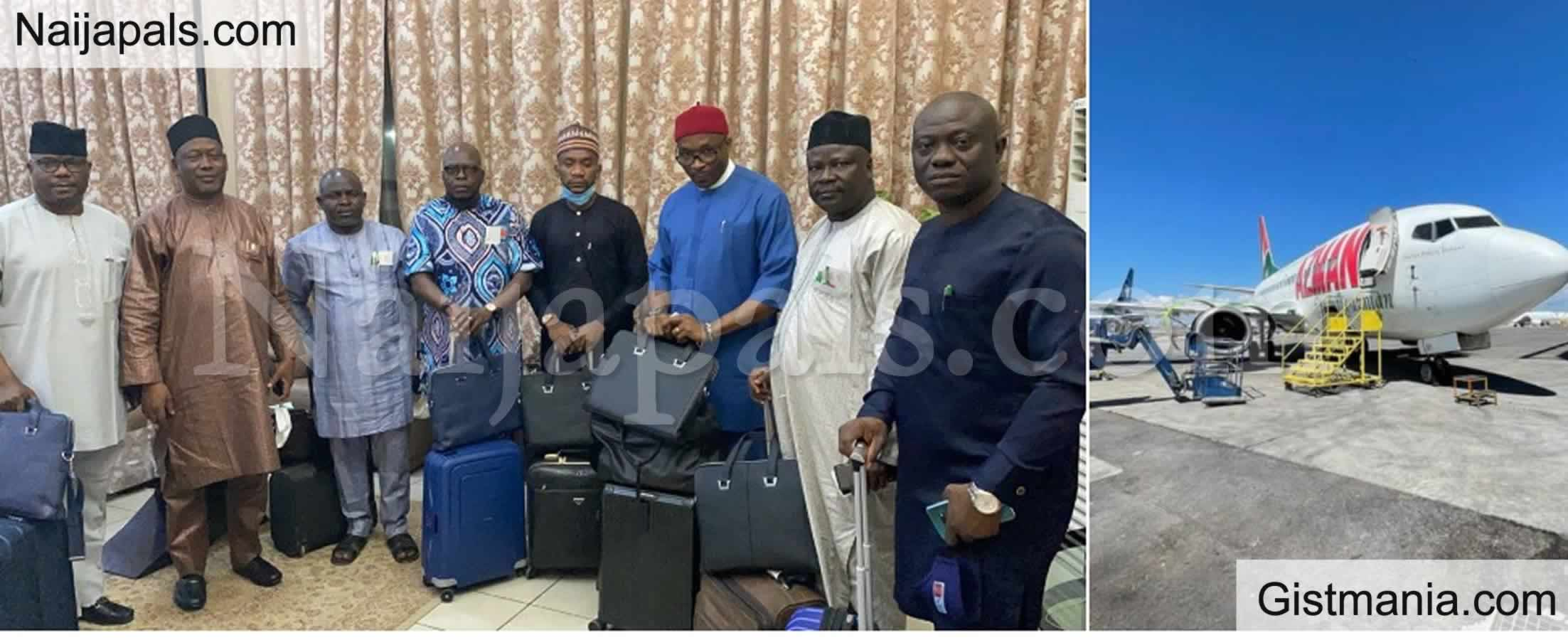 <img alt='.' class='lazyload' data-src='https://img.gistmania.com/emot/news.gif' /> <b>Nigerian Lawmakers Left Stranded By Absconding Airline Officials In Kano</b>