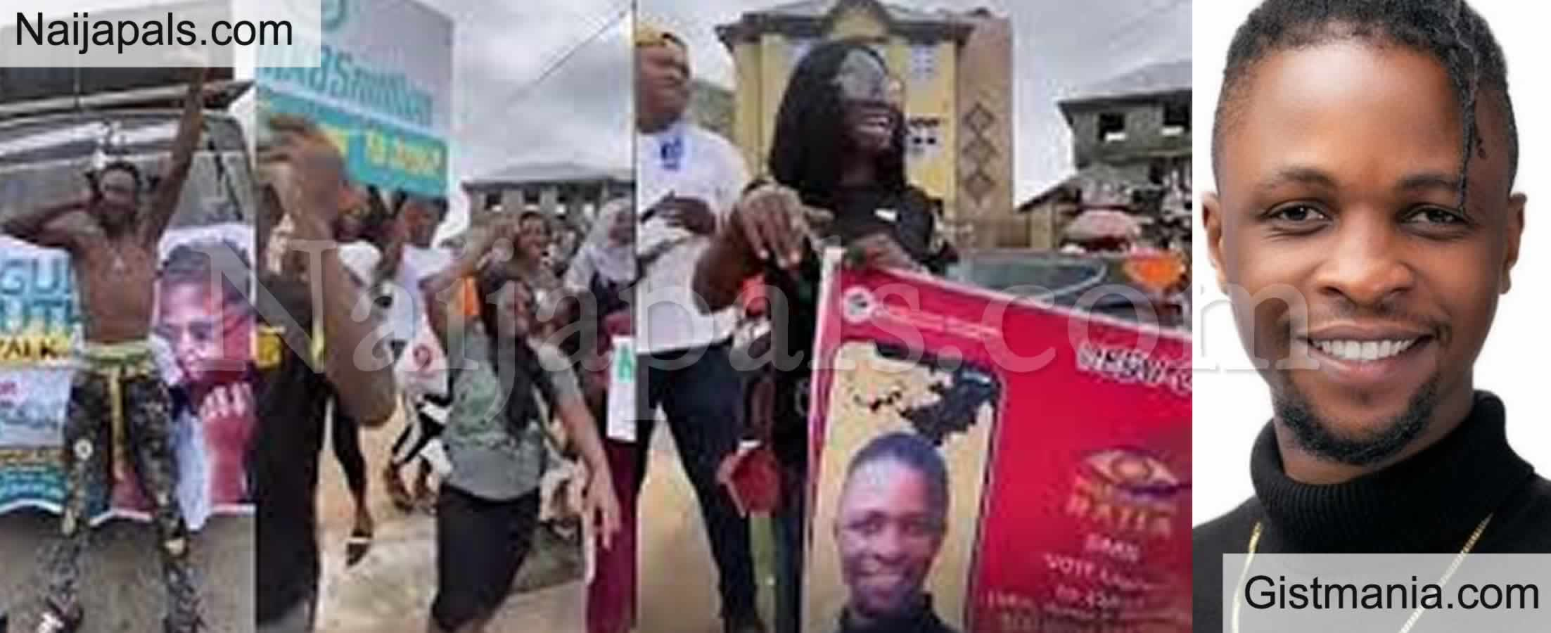 <img alt='.' class='lazyload' data-src='https://img.gistmania.com/emot/video.gif' /> #BBNaiaja! <b>Laycon's fans (ICONS) Storm The Streets Of Ogun State in a Mega Rally</b> (Video)