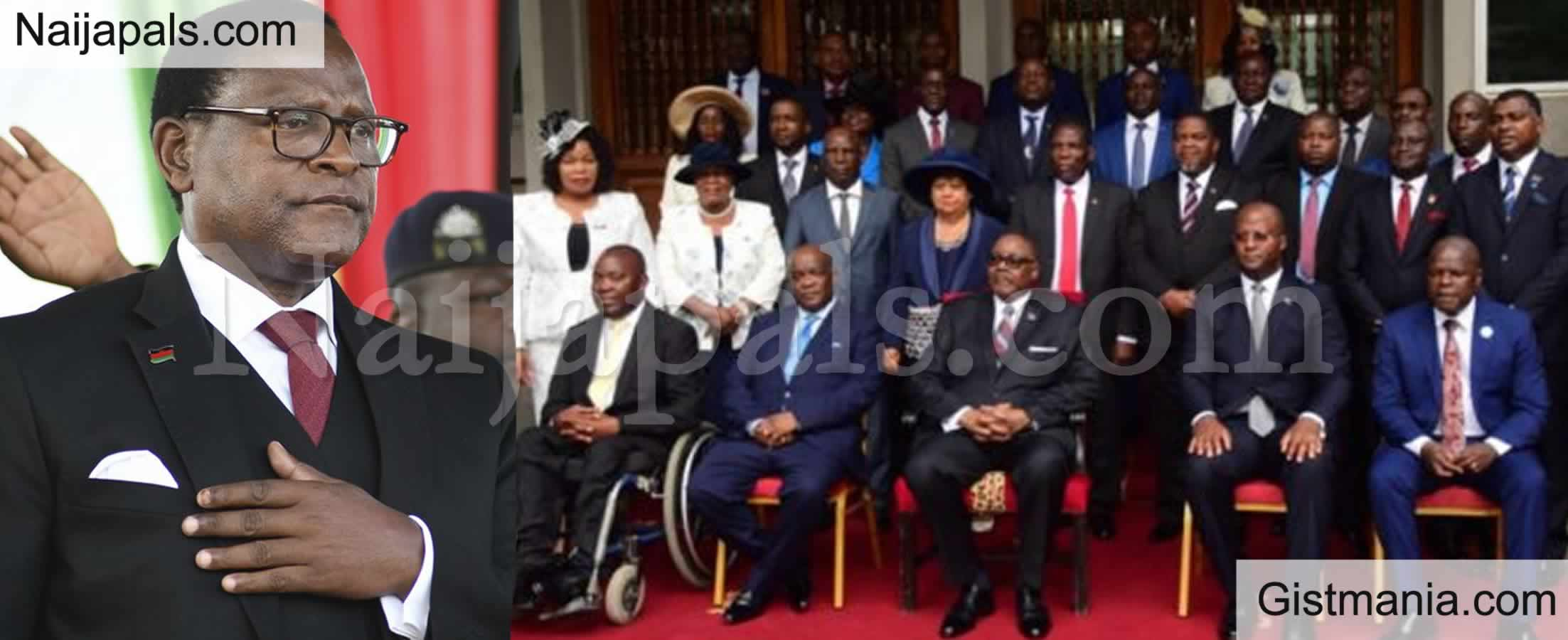<img alt='.' class='lazyload' data-src='https://img.gistmania.com/emot/comment.gif' /> <b>Malawi President, Lazarus Chakwera Accused of Filling His Cabinet With His Family & Relatives</b>