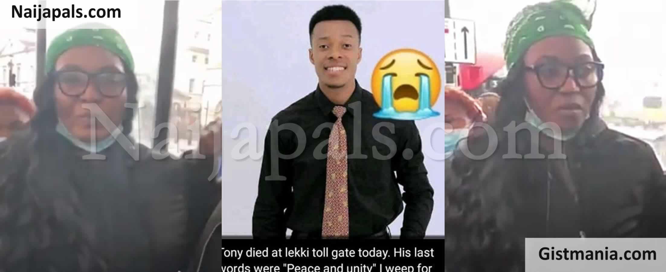<img alt='.' class='lazyload' data-src='https://img.gistmania.com/emot/video.gif' /><img alt='.' class='lazyload' data-src='https://img.gistmania.com/emot/comment.gif' /> #LEKKIMASSACRE! <b>Mother Of Young Man, Anthony Who Was Shot Dead At Lekki Toll Gate Speaks</b> (Vid)