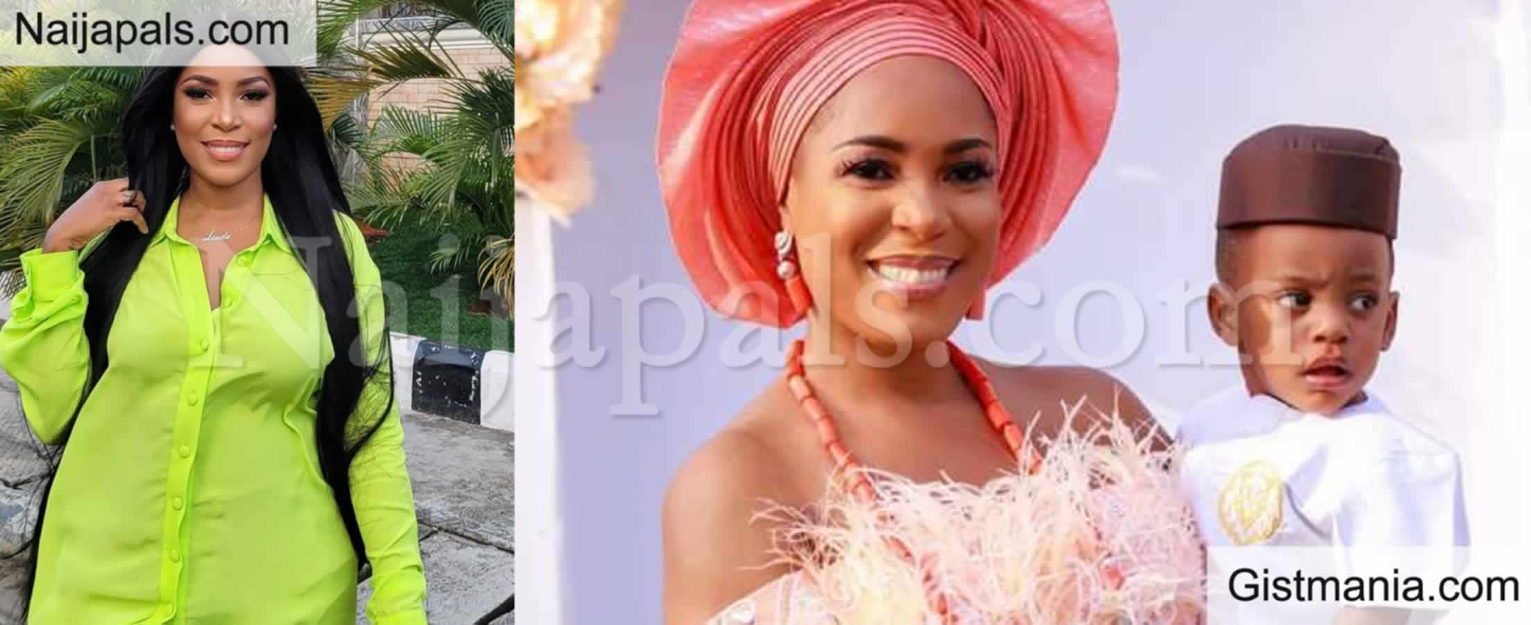 <img alt='.' class='lazyload' data-src='https://img.gistmania.com/emot/comment.gif' /> Millionaire Blogger, <b>Linda Ikeji Changes Her Son's Surname To Her Own Father's Name </b>