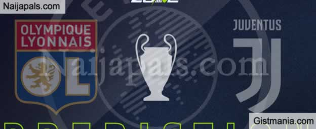 <img alt='.' class='lazyload' data-src='https://img.gistmania.com/emot/soccer.gif' /> <b>Juventus v Lyon : UEFA Champions League Match, Team News, Goal Scorers and Stats</b>