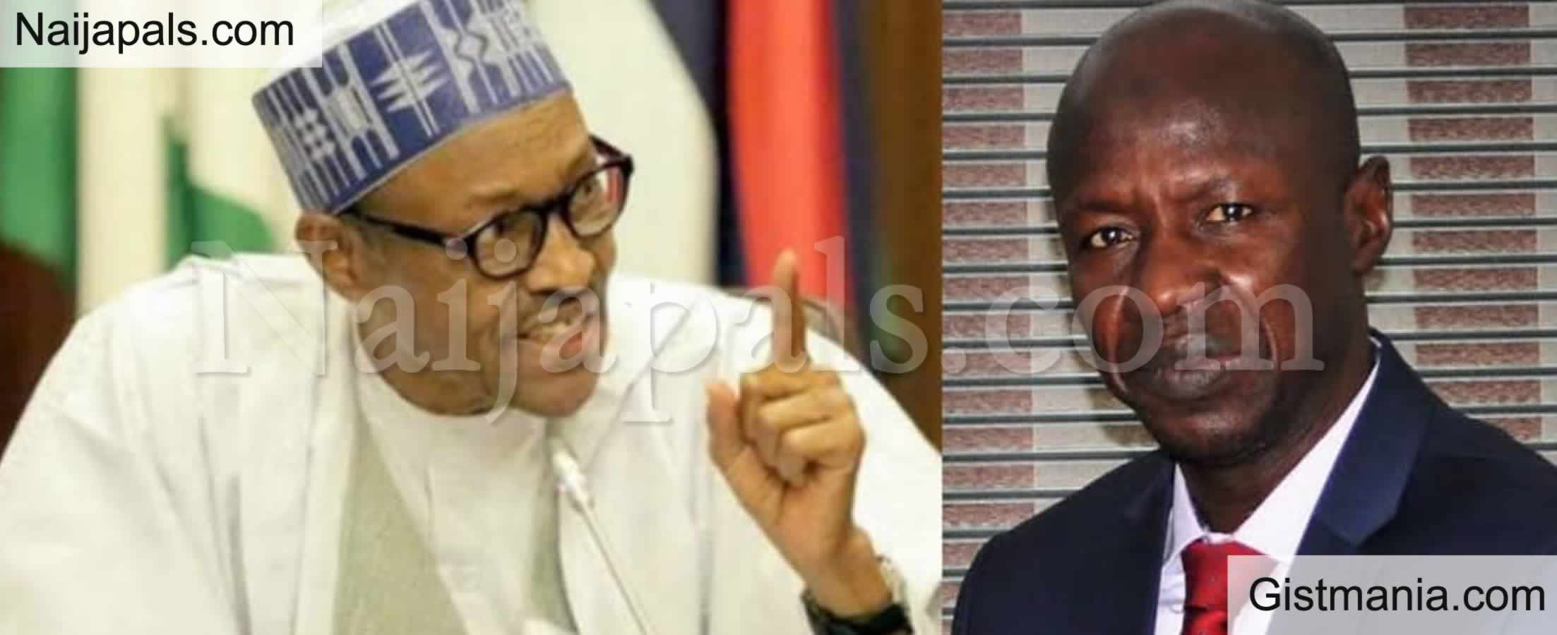 <img alt='.' class='lazyload' data-src='https://img.gistmania.com/emot/news.gif' /> BREAKING! <b>President Buhari Suspends Acting EFCC Boss, Ibrahim Magu</b> Following Fraud Allegations