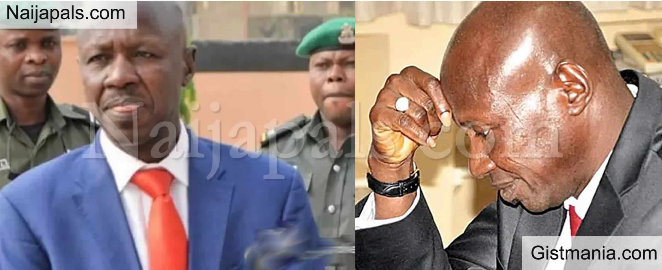 <img alt='.' class='lazyload' data-src='https://img.gistmania.com/emot/news.gif' /> Embattled EFCC Boss, <b>Ibrahim Magu Pleads With IGP For Bail As Interrogation Enters Day 4</b>