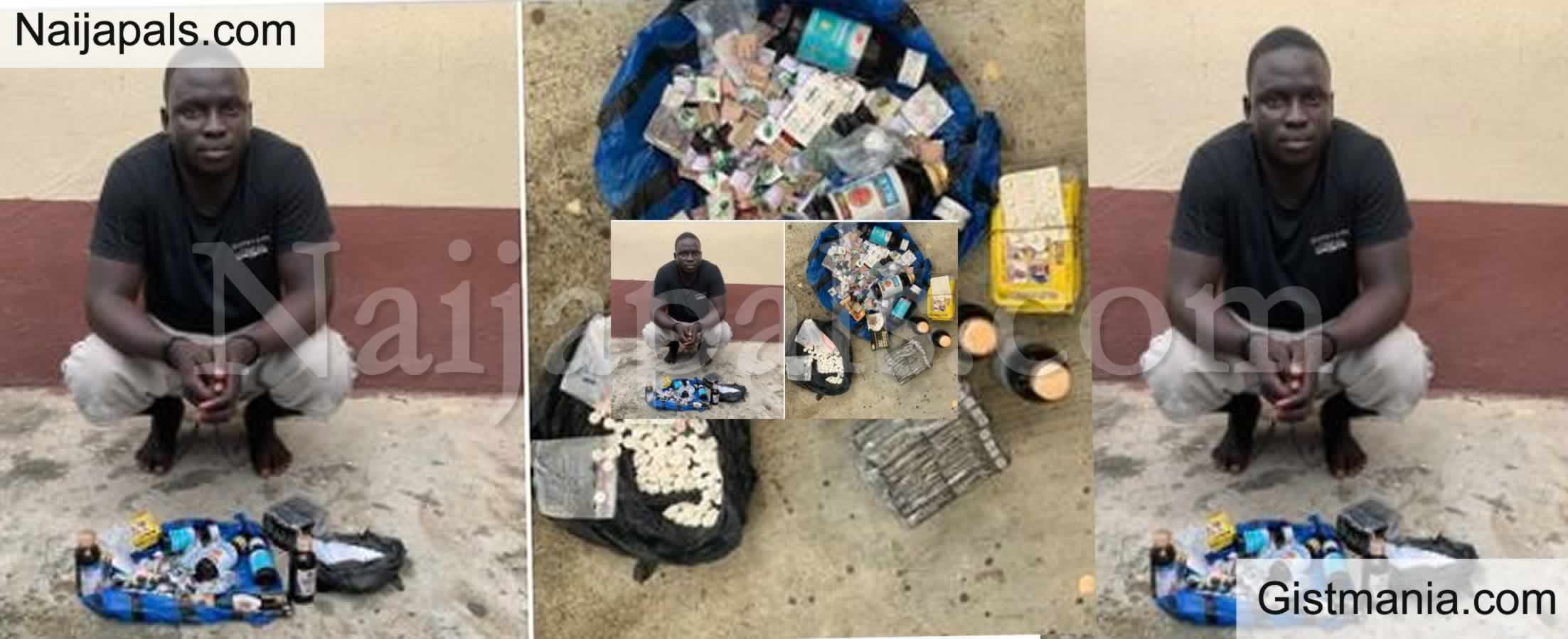 <img alt='.' class='lazyload' data-src='https://img.gistmania.com/emot/comment.gif' /> <b>Man Arrested For Peddling Contraband Medication In Lagos State</b>