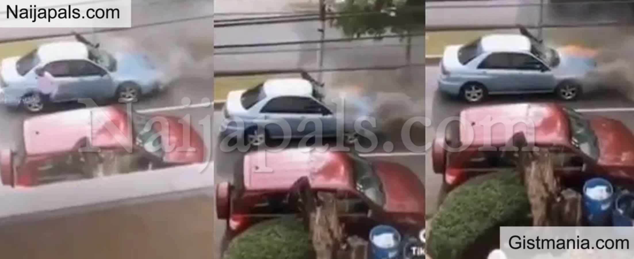 <img alt='.' class='lazyload' data-src='https://img.gistmania.com/emot/shocked.gif' /> Moment A <b>Man Calmly Takes His Bag And Walks To The Office After His Car Catches Fire</b> (VIDEO)