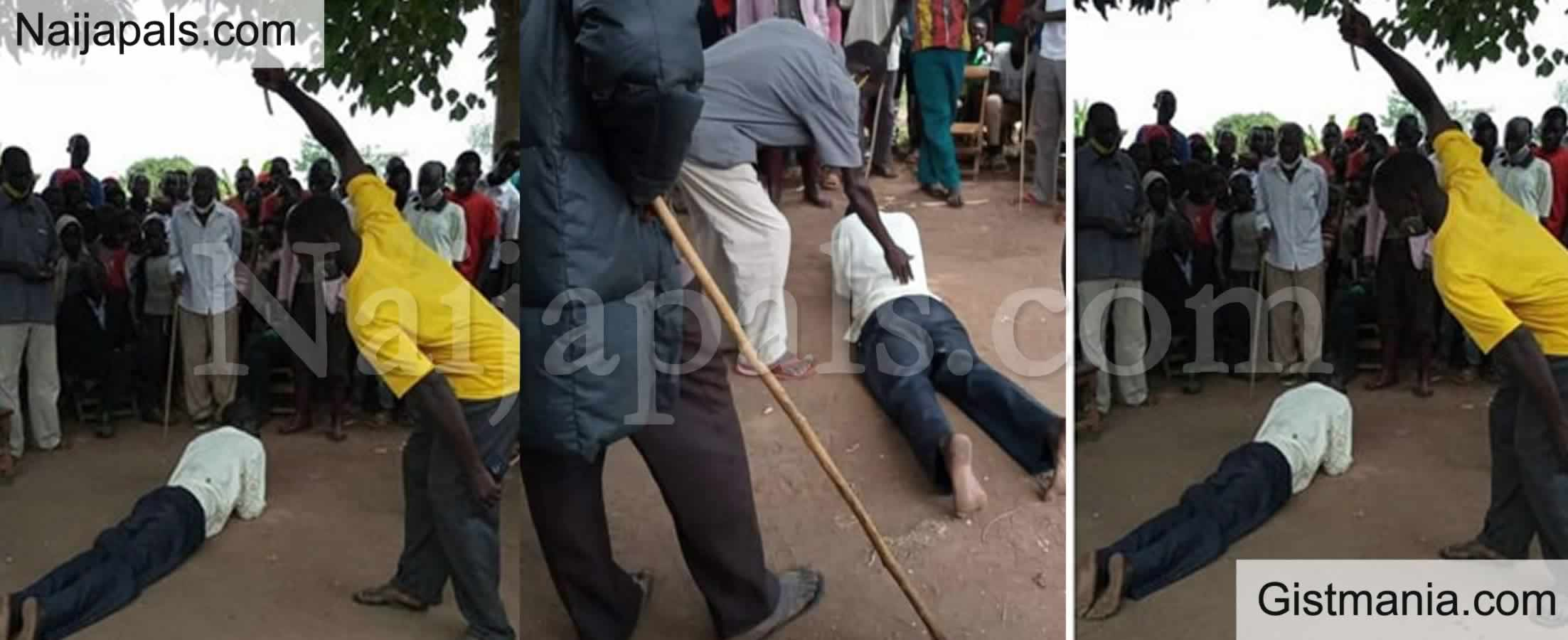 <img alt='.' class='lazyload' data-src='https://img.gistmania.com/emot/shocked.gif' /> PHOTOS: <b>63 Year Old Man Publicly Flogged For Attempting to Sleep With His Daughter-in-Law</b>