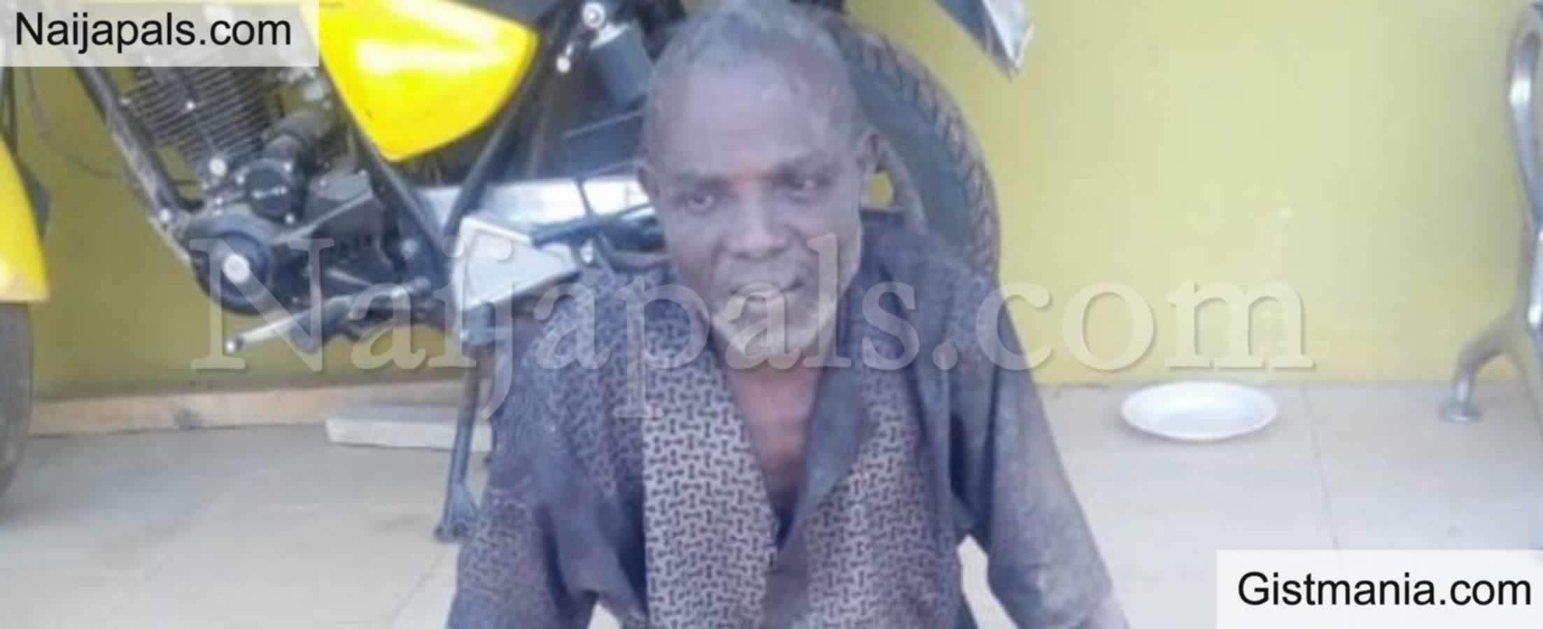 <img alt='.' class='lazyload' data-src='https://img.gistmania.com/emot/shocked.gif' /> <b>55Yrs Old Yesiru Salisu Found With 4 Human Skulls, 3 Jaws & 2 Dry Head Arrested In Ogun</b>
