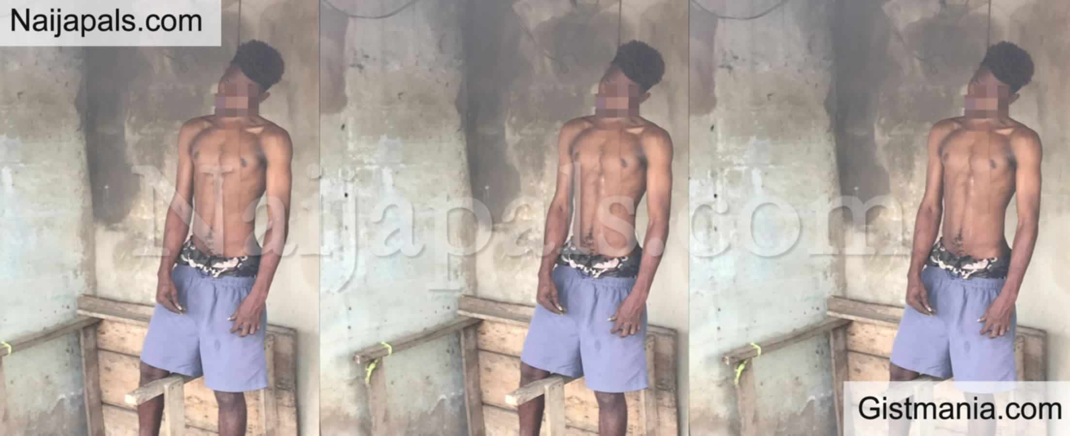 <img alt='.' class='lazyload' data-src='https://img.gistmania.com/emot/shocked.gif' /> <b>Shocking As Corpse Of Man Found Hanged In Front Of A Shop Beside Police Station In Lagos</b>