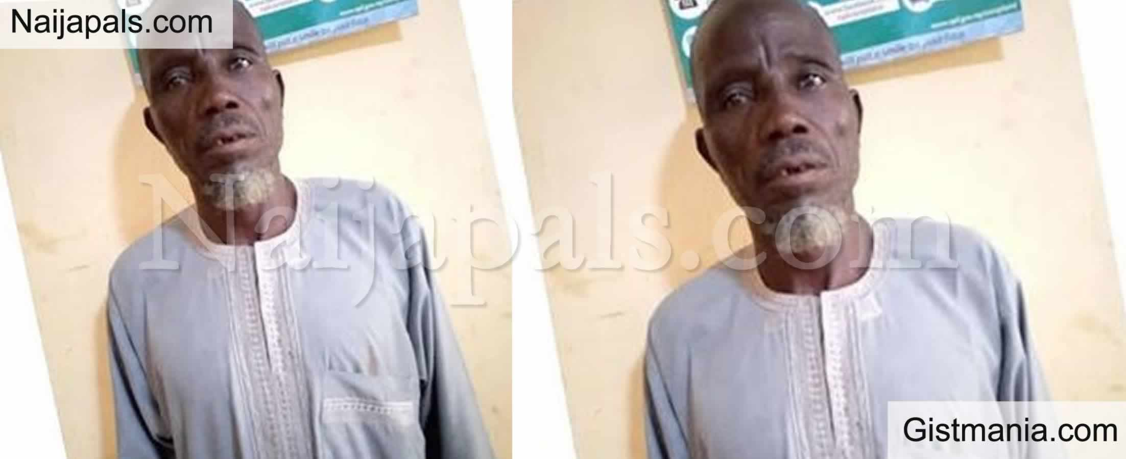 <img alt='.' class='lazyload' data-src='https://img.gistmania.com/emot/news.gif' /> 60-Yr-old Man, <b>Muhammed Dahiru Arrested & Sue For Defiling Neighbour's 5-Year-Old Daughter </b>