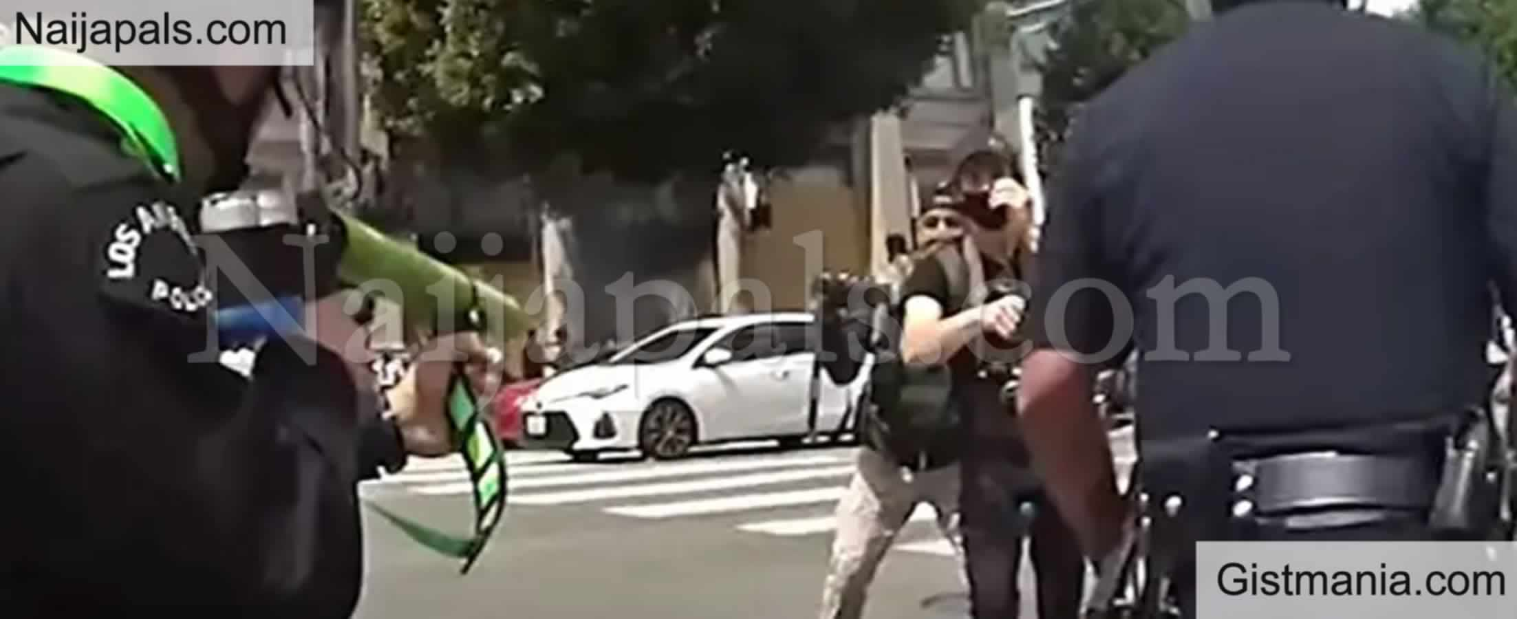 <img alt='.' class='lazyload' data-src='https://img.gistmania.com/emot/shocked.gif' /> Ouch! <b>Man Testicles Explodes After Being Shot With Rubber Bullet During Protest</b>