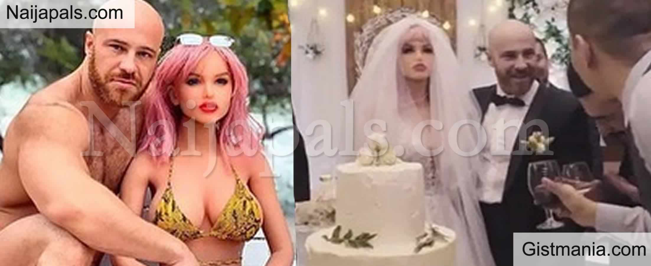 <img alt='.' class='lazyload' data-src='https://img.gistmania.com/emot/comment.gif' /> PHOTOS: <b>Man Excited As He Finally Weds His Sex Doll In Groundbreaking Ceremony</b>
