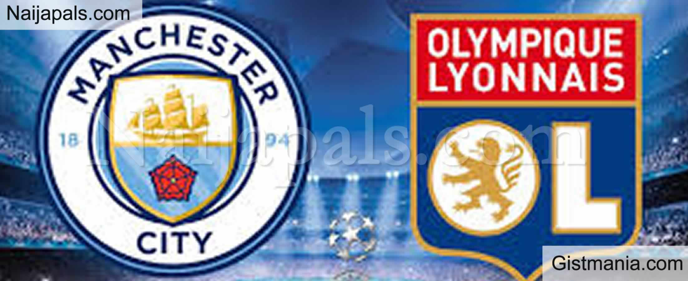 <img alt='.' class='lazyload' data-src='https://img.gistmania.com/emot/soccer.gif' /> <b>Manchester City v Lyon : UEFA Champions League Match, Team News, Goal Scorers and Stats</b>