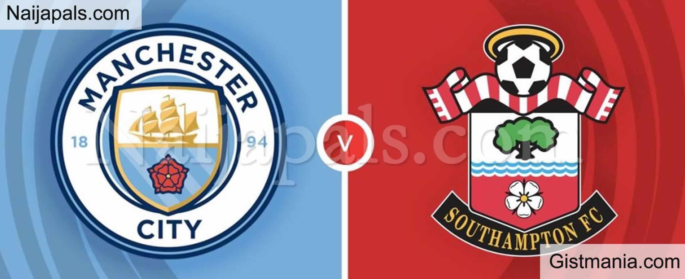 <img alt='.' class='lazyload' data-src='https://img.gistmania.com/emot/soccer.gif' /> <b>Manchester City v Southampton : English Premier League Match, Team News, Goal Scorers and Stats</b>