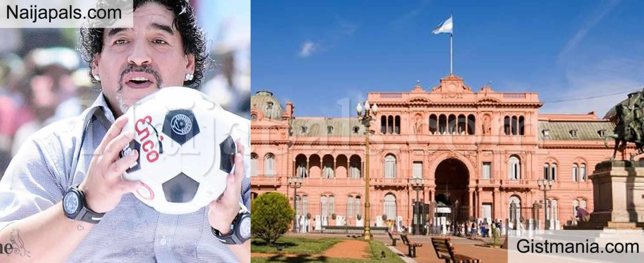 <img alt='.' class='lazyload' data-src='https://img.gistmania.com/emot/news.gif' /> <b>Argentina Football Legend, Diego Maradona Sets To Be Buried At President Office, Casa Rosada</b>
