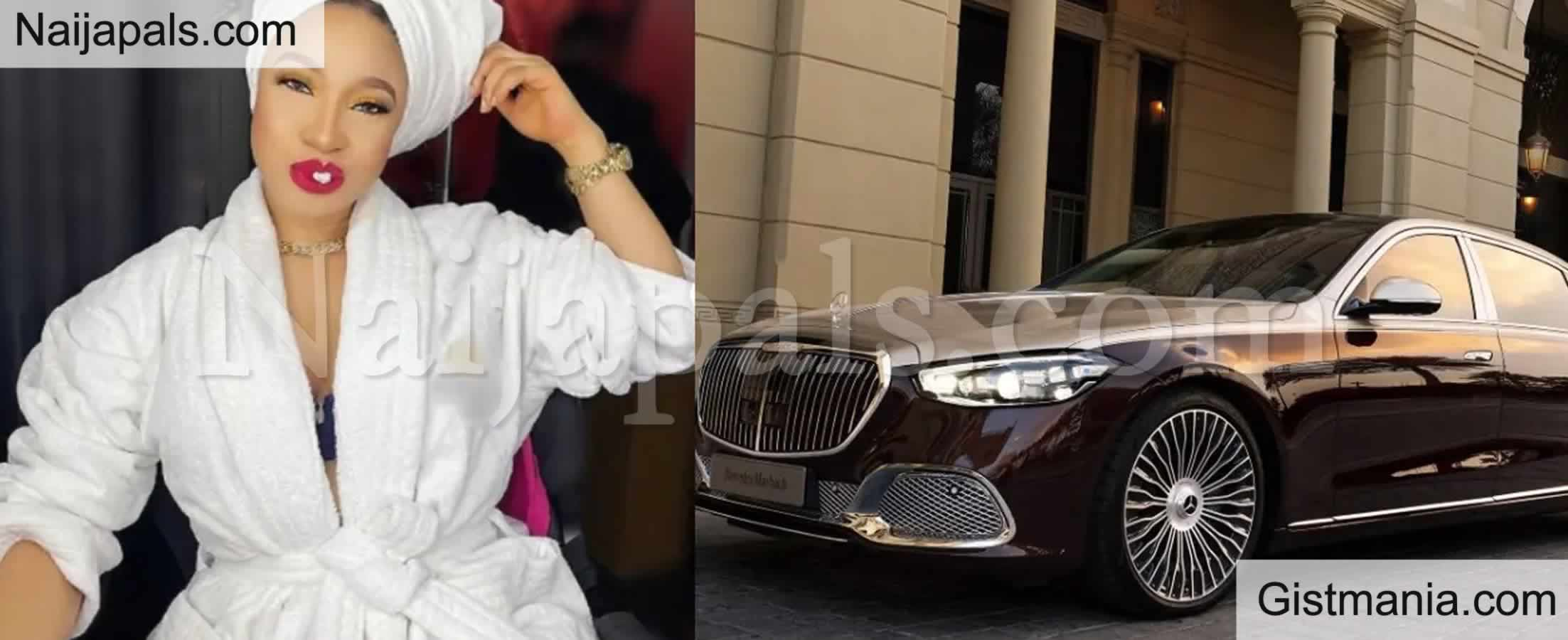 <img alt='.' class='lazyload' data-src='https://img.gistmania.com/emot/video.gif' /> <b>Tonto Dikeh Gifts Herself a 'MAYBACH' Worth Millions of Naira For Her 36th Birthday</b>