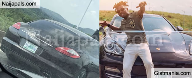 Singer, Mayorkun Poses With His Brand New Customized Porsche