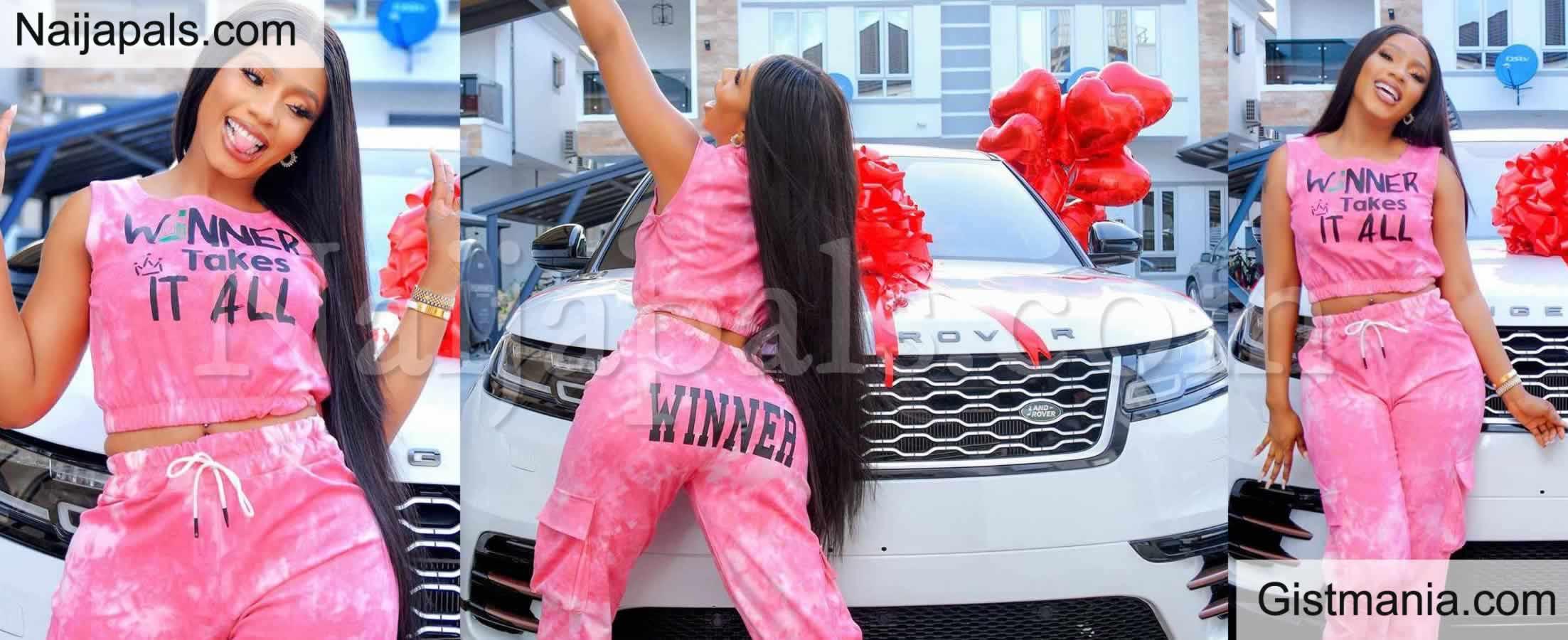 <img alt='.' class='lazyload' data-src='https://img.gistmania.com/emot/celeb.gif' /> ITS HOT & FRESH! <b>Mercy Eke Gifts Herself A Brand New Range Rover For Her 27th Birthday</b> (Photos)