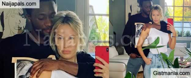 Mikel Obi And His Russian Partner, Olga Allegra All Loved In New Photo