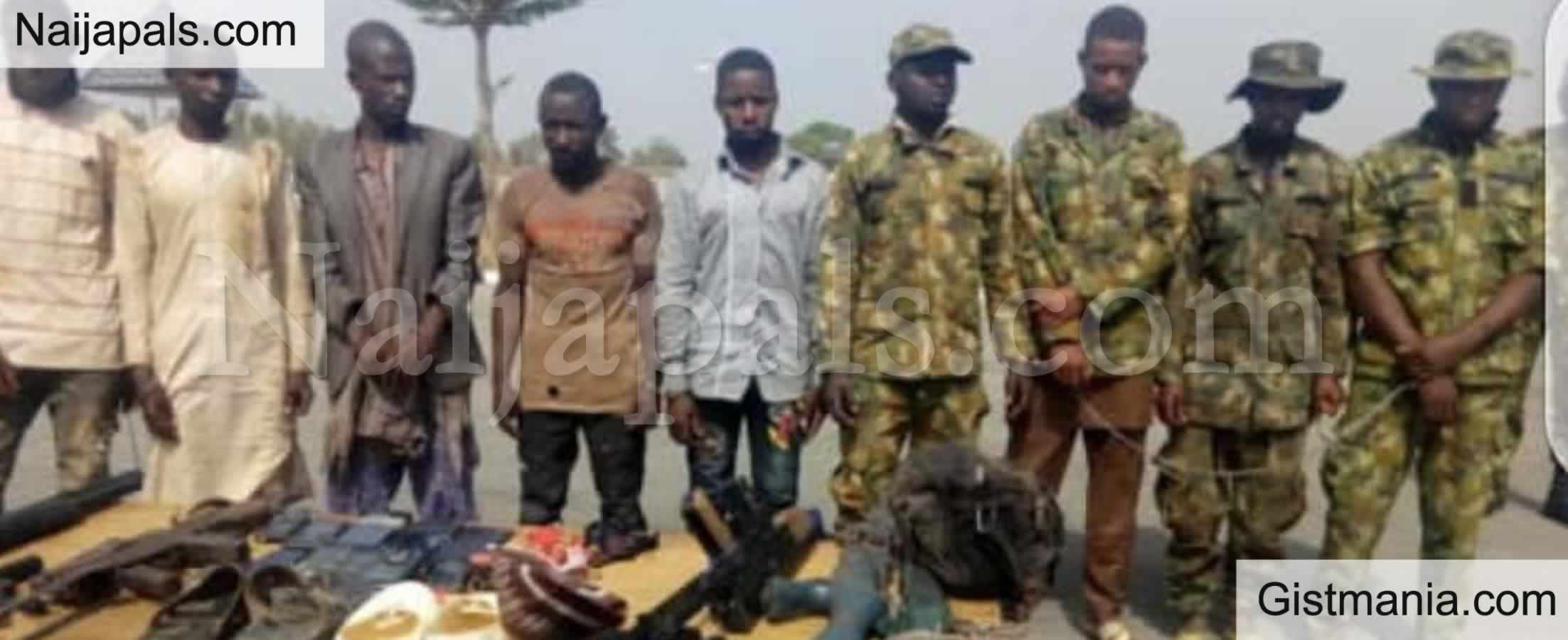 <img alt='.' class='lazyload' data-src='https://img.gistmania.com/emot/news.gif' /> PHOTO: <b>Suspected Kidnap Syndicates Caught With Military Uniforms In Plateau State</b>
