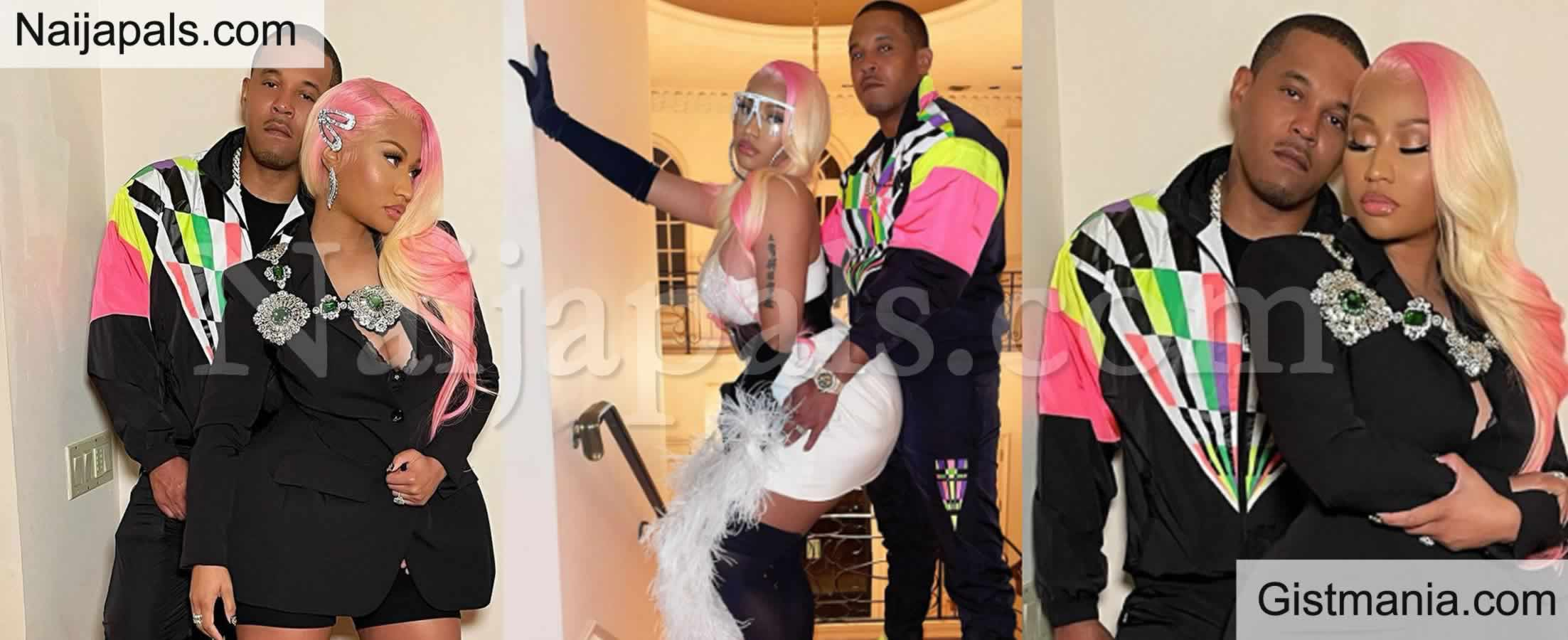 <img alt='.' class='lazyload' data-src='https://img.gistmania.com/emot/love.gif' /> <b>Nicki Minaj Releases First Loved up Photos With Hubby Since After Giving Birth</b>