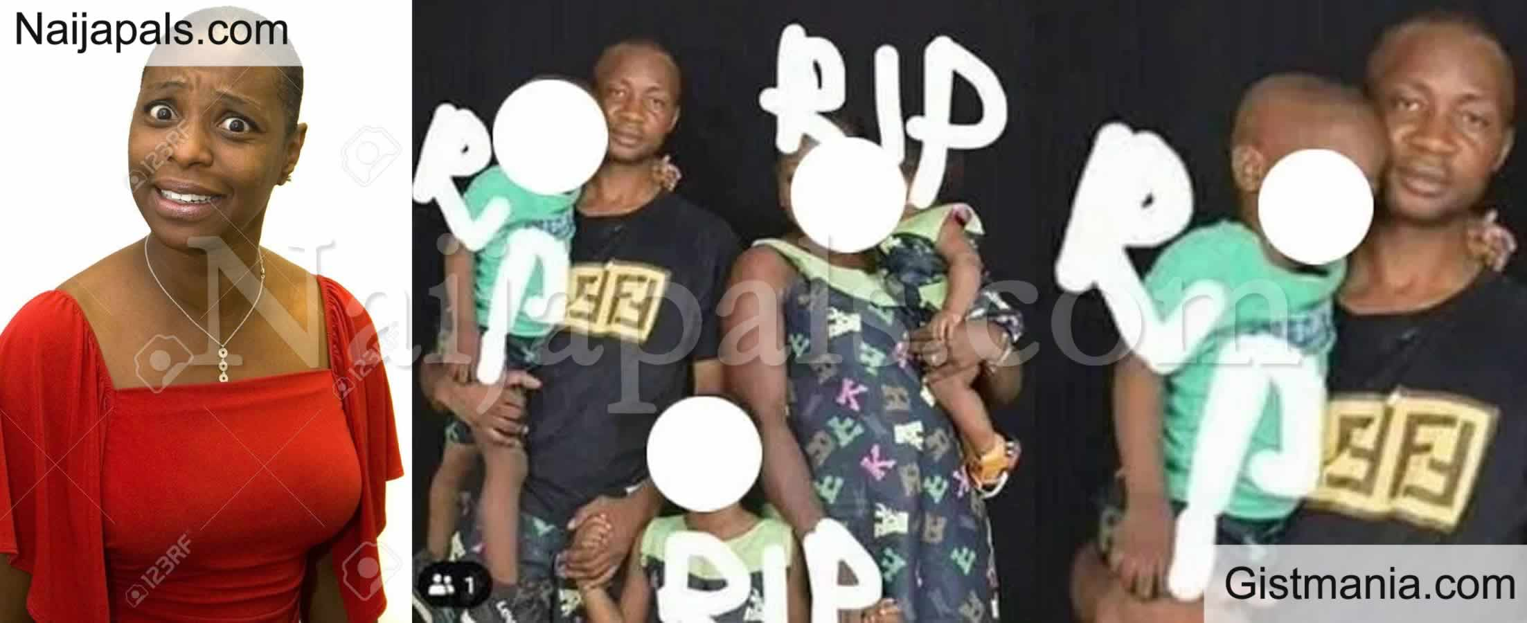 <img alt='.' class='lazyload' data-src='https://img.gistmania.com/emot/shocked.gif' /> R.I.P.: Drama as <b>Angry Side Chic Declares Her Married Lover's Wife & Kids Dead on Facebook</b>