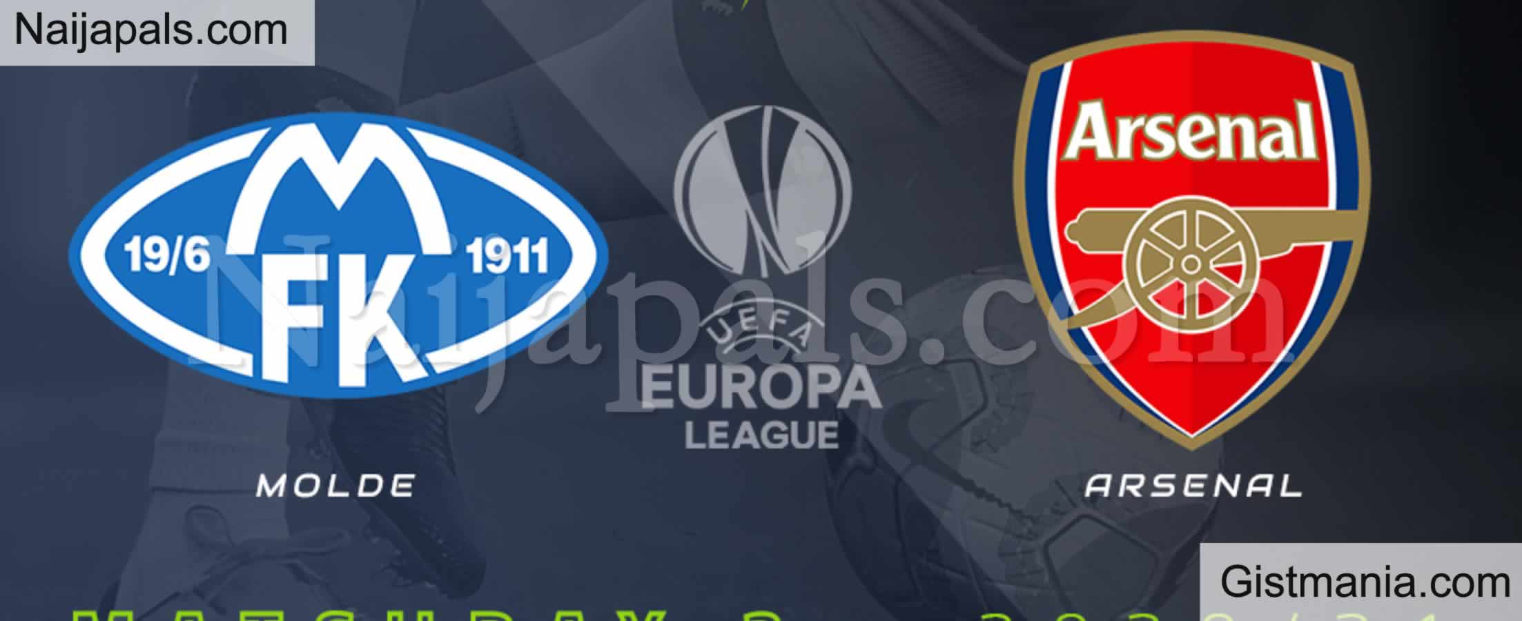 <img alt='.' class='lazyload' data-src='https://img.gistmania.com/emot/soccer.gif' /> <b>Molde v Arsenal : UEFA Europa League Match, Team News, Goal Scorers and Stats</b>