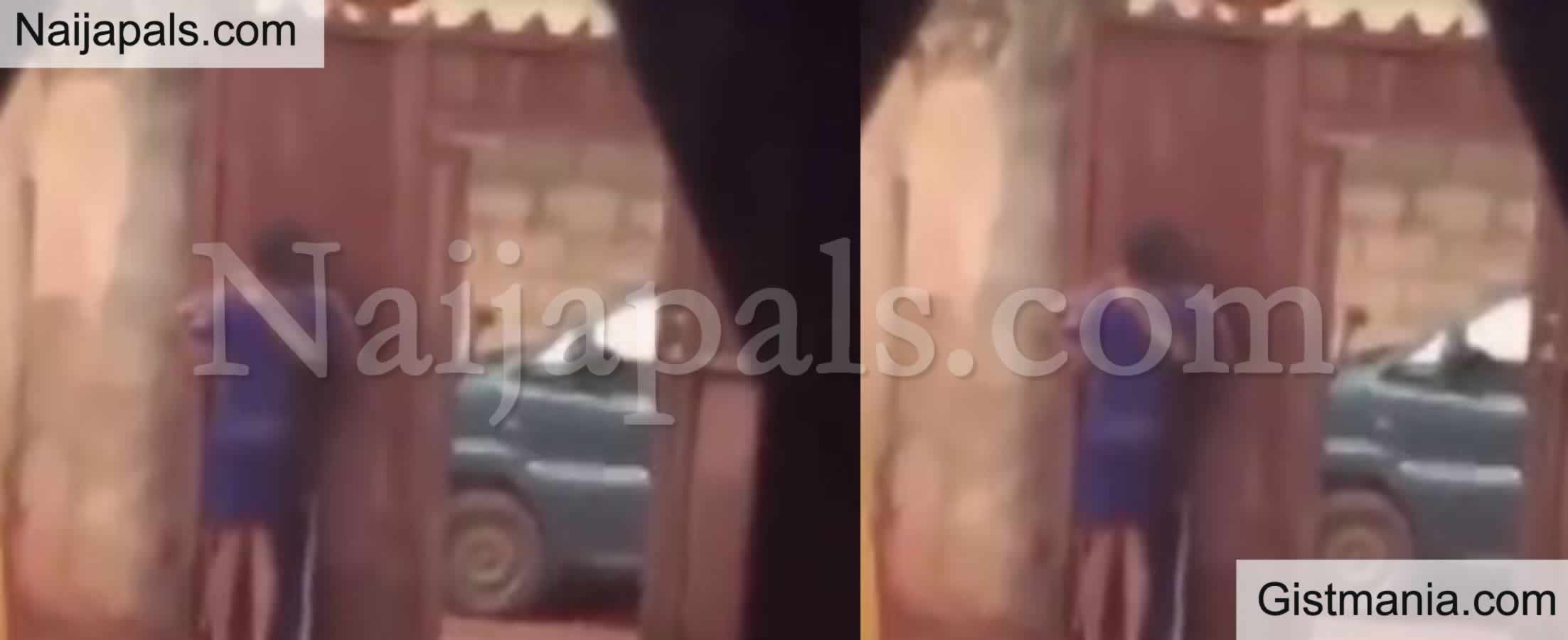 <img alt='.' class='lazyload' data-src='https://img.gistmania.com/emot/video.gif' /> Video: <b>The Moment A Nigerian Mother Caught Daughter Making Out With A Man In Their Compound </b>