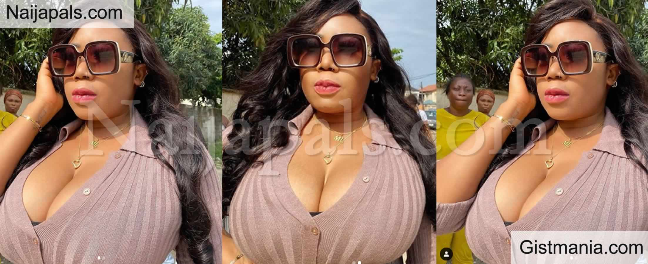 <img alt='.' class='lazyload' data-src='https://img.gistmania.com/emot/shocked.gif' /> <b>Actress Moyo Lawal Steps Out With Her 'Bigger' Watermelons & Her Fans Are Asking Questions</b>