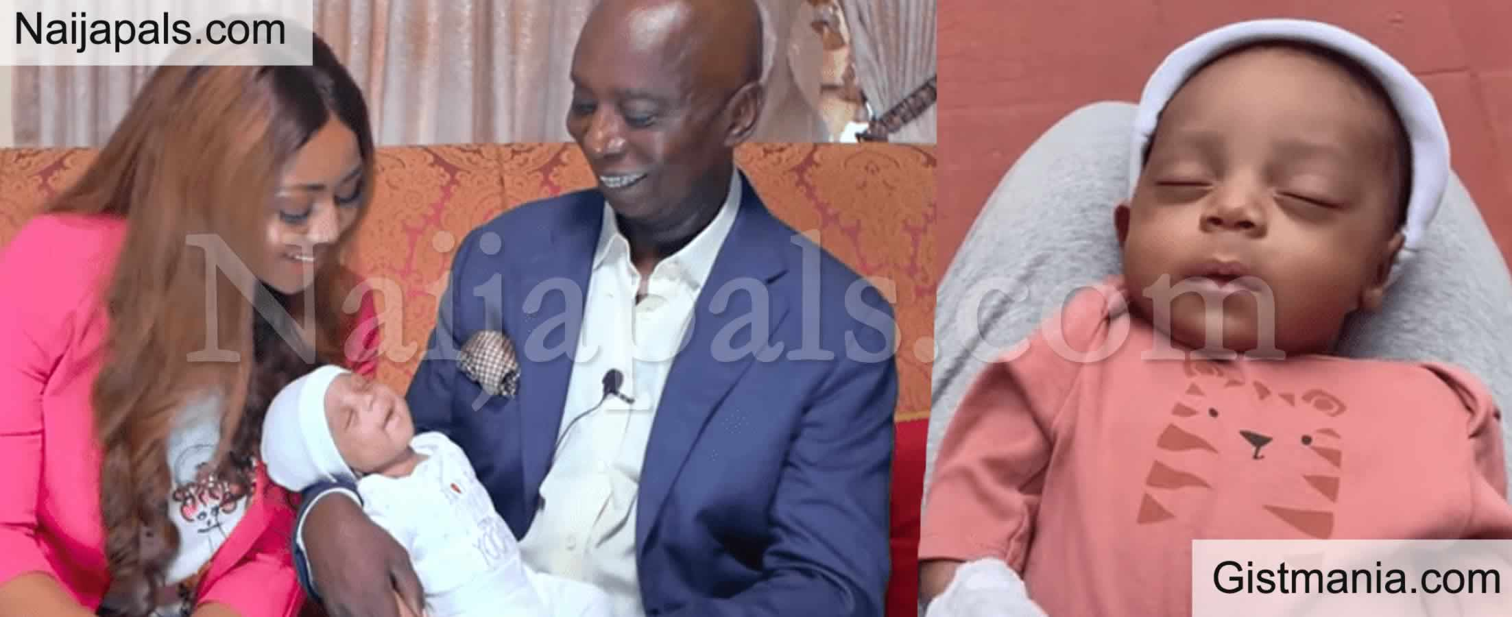 <img alt='.' class='lazyload' data-src='https://img.gistmania.com/emot/photo.png' /> PHOTOS: <b>Regina Daniels & Her Billionaire Husband Unveil Face Of Their Son, Munir Neji Ned Nwoko</b>