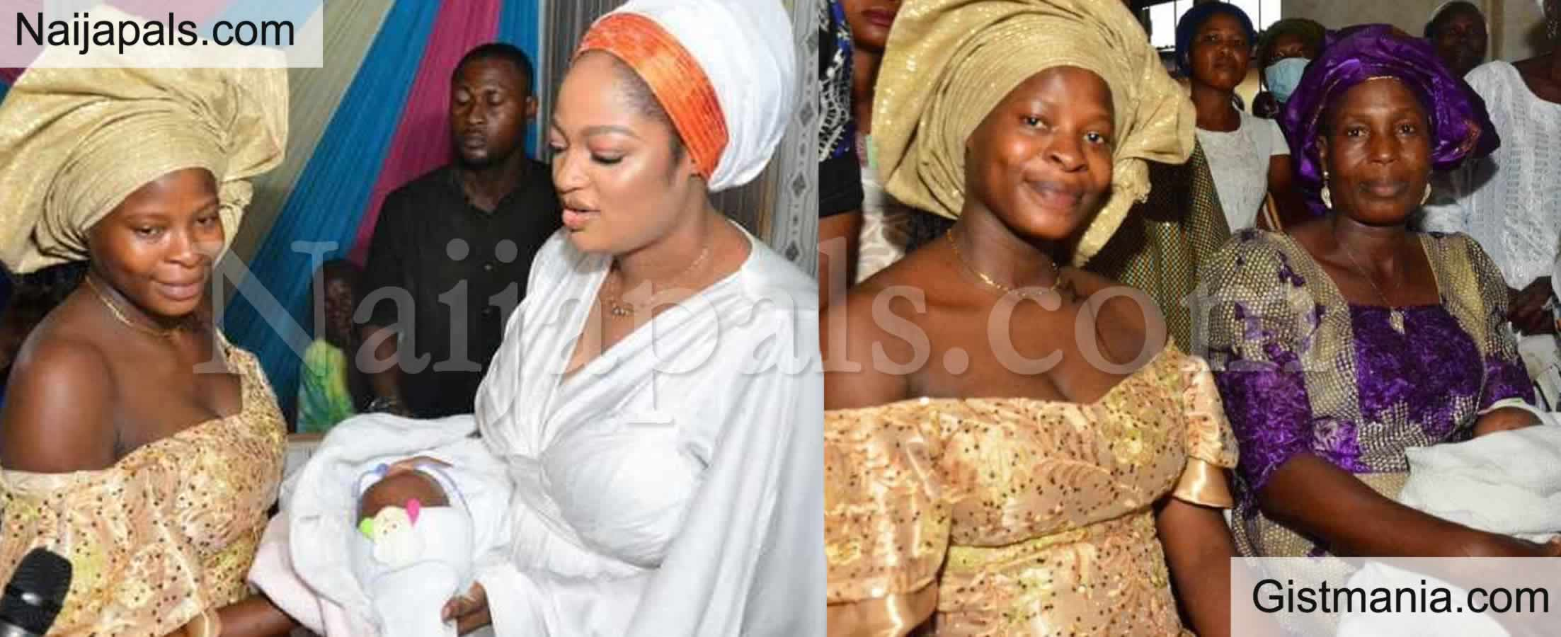 <img alt='.' class='lazyload' data-src='https://img.gistmania.com/emot/photo.png' /> PHOTOS: <b>Ooni of Ife's Wife, Naomi Attends Naming Ceremony of Released EndSARS Protester's Child</b>