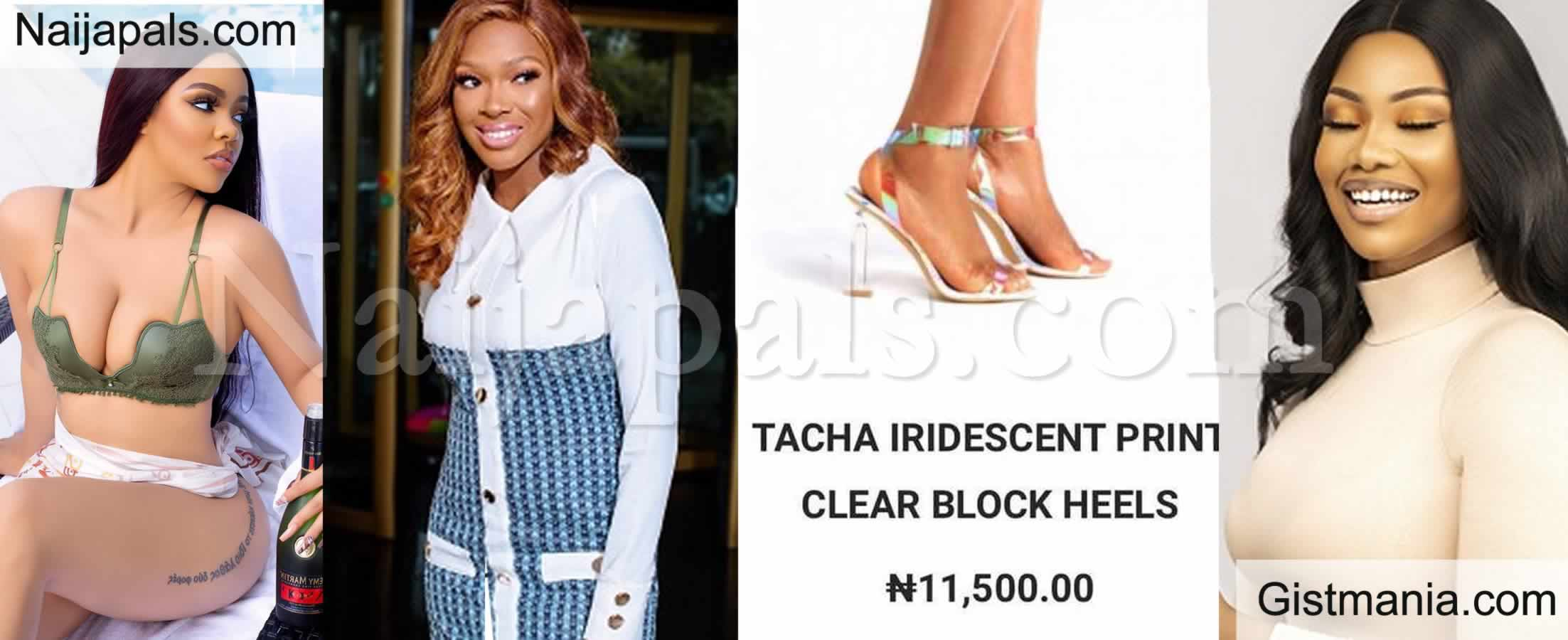 <img alt='.' class='lazyload' data-src='https://img.gistmania.com/emot/thumbs_up.gif' /> <b>BBNaija's Nengi Names Her Shoe Line After Former Housemates, Vee & Tacha</b> (Photos)