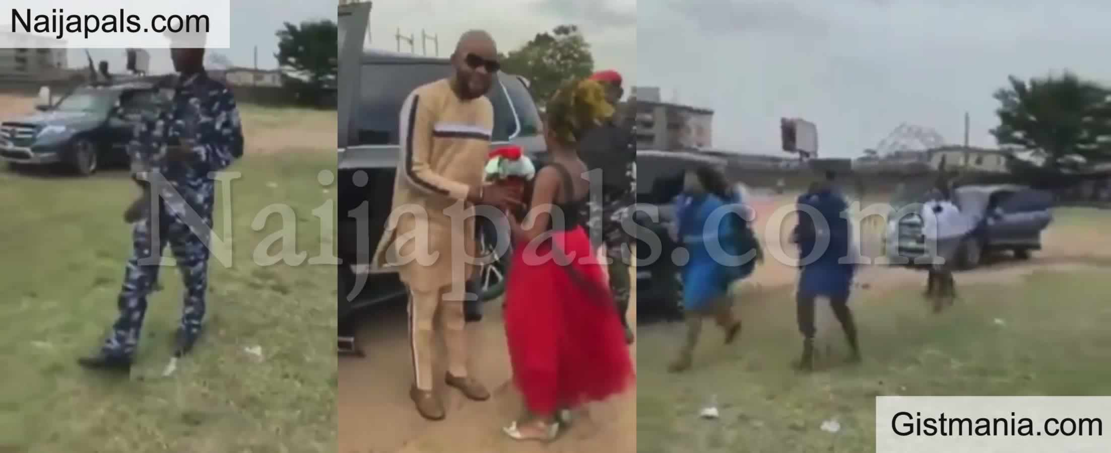 <img alt='.' class='lazyload' data-src='https://img.gistmania.com/emot/video.gif' /> <b>No Need For Guardian Angels! Nigerian Pastor Arrives Crusade In Grand Style</b> (Video)